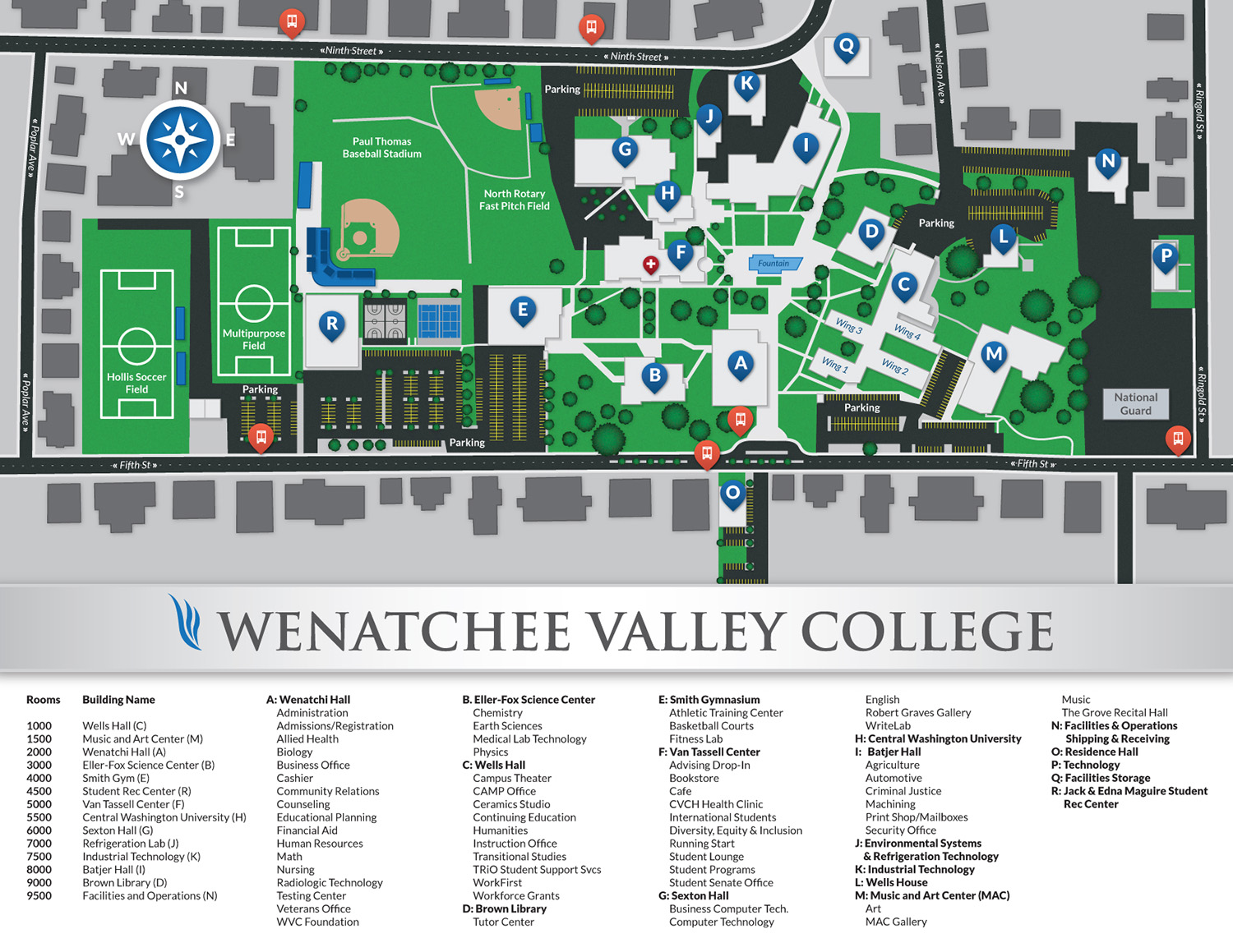 Wenatchee Campus Map