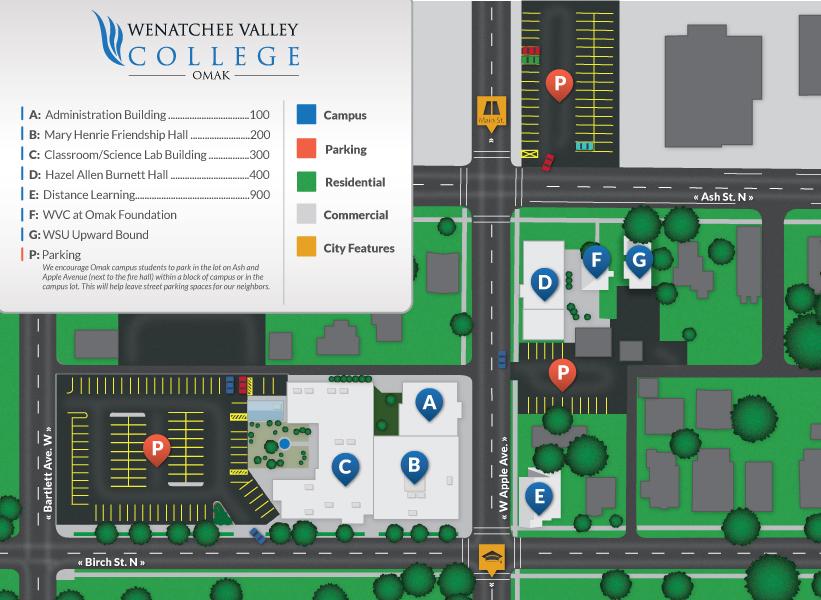 Omak Campus Map | Wenatchee Valley College