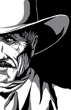 "Cowboy from ""Graphic Transmissions"" by Daniel Marron"