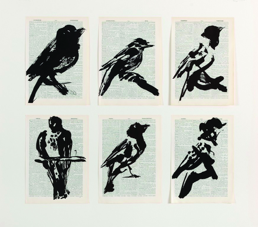 WILLIAM KENTRIDGE, UNIVERSAL ARCHIVE (SIX BIRDS)