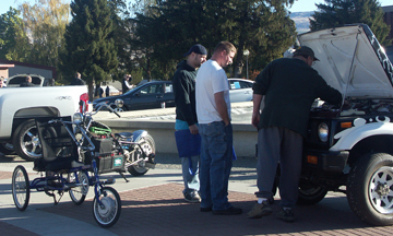 Image from National Alternative Fuel Vehicle Day on Oct. 15 at the Wenatchee campus