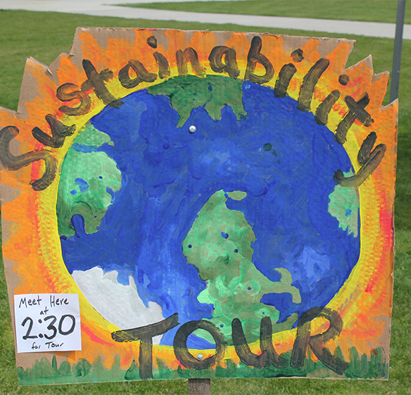 Earth Day Sustainability sign