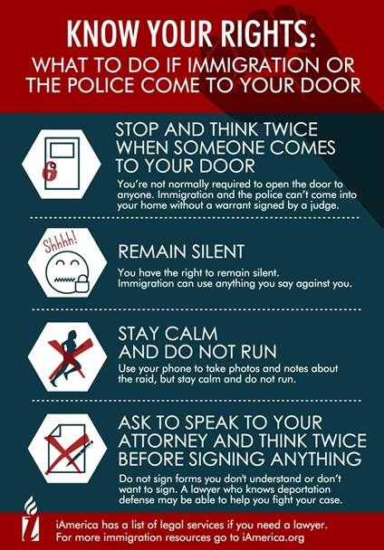 Know Your Rights Infographic